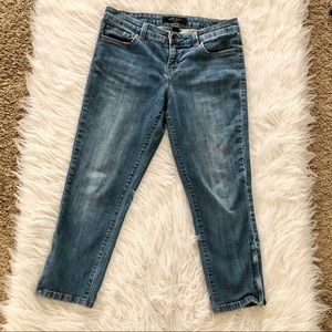 Nine West cropped low rise jeans, size 8/28